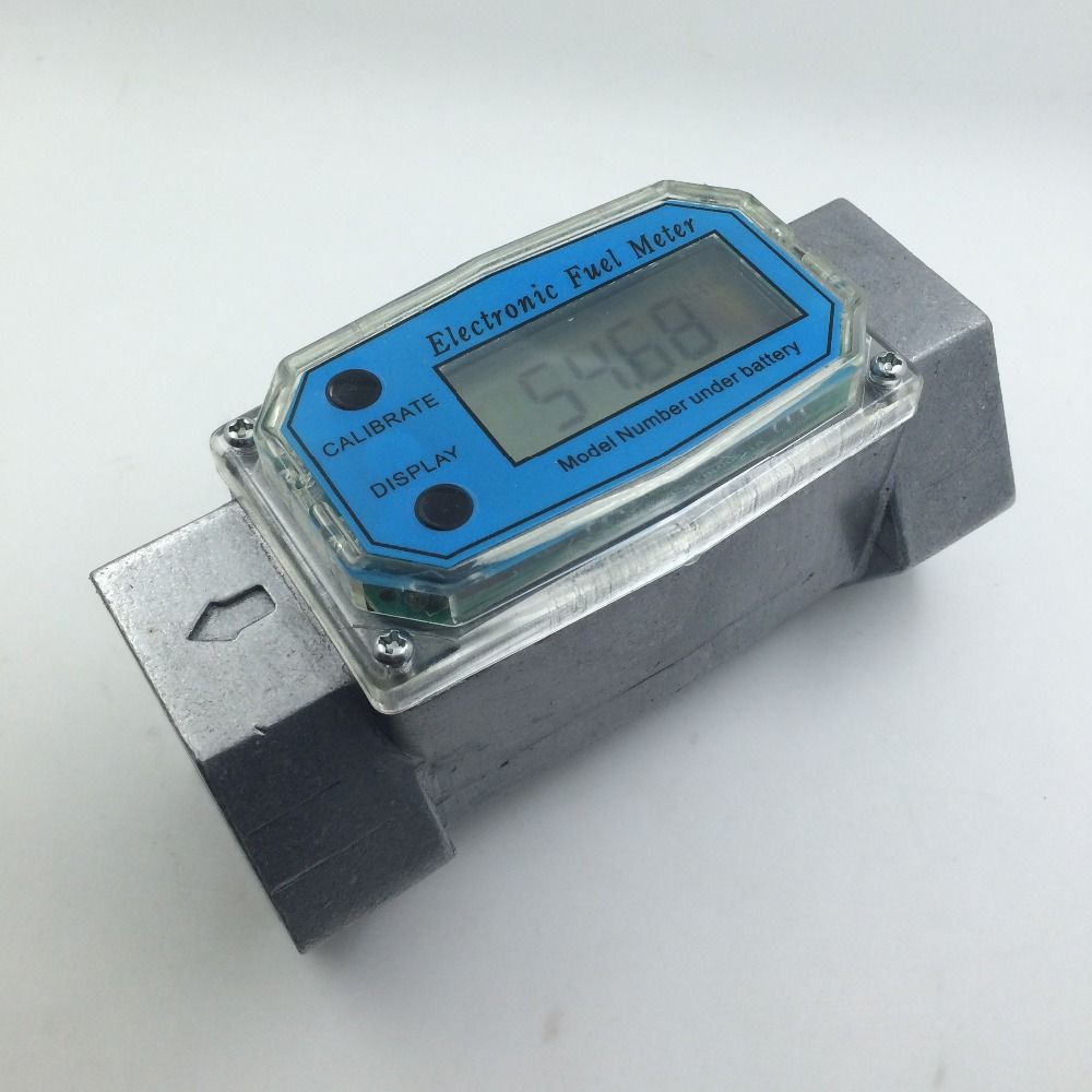G1.5 Turbine Digital Diesel Fuel Flow Meter  Electronic Flow Measurement Device Plus Methanol Metering Pumps Pumping Count