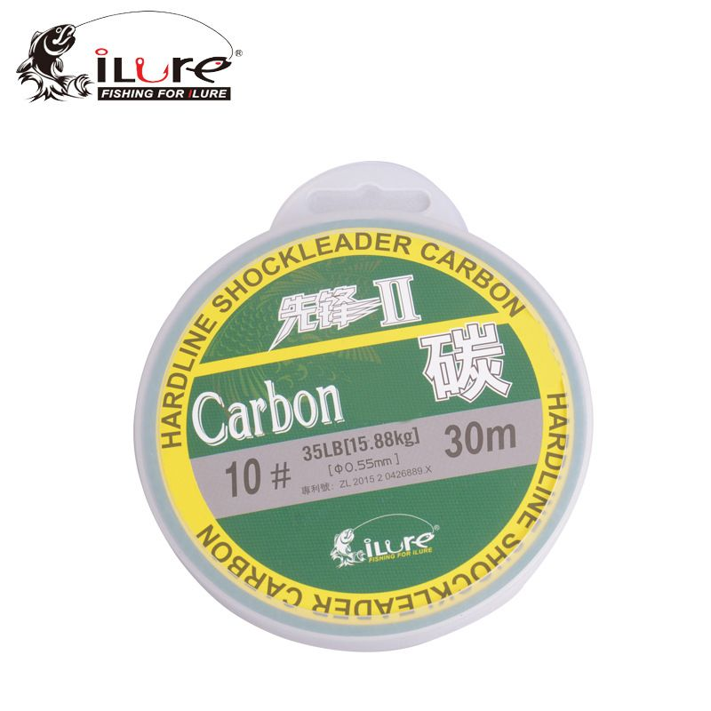 iLure Brand 30M Fluorocarbon Fishing Line Real Carbon Fiber Leader Line brand fly fishing line pesca High Quality