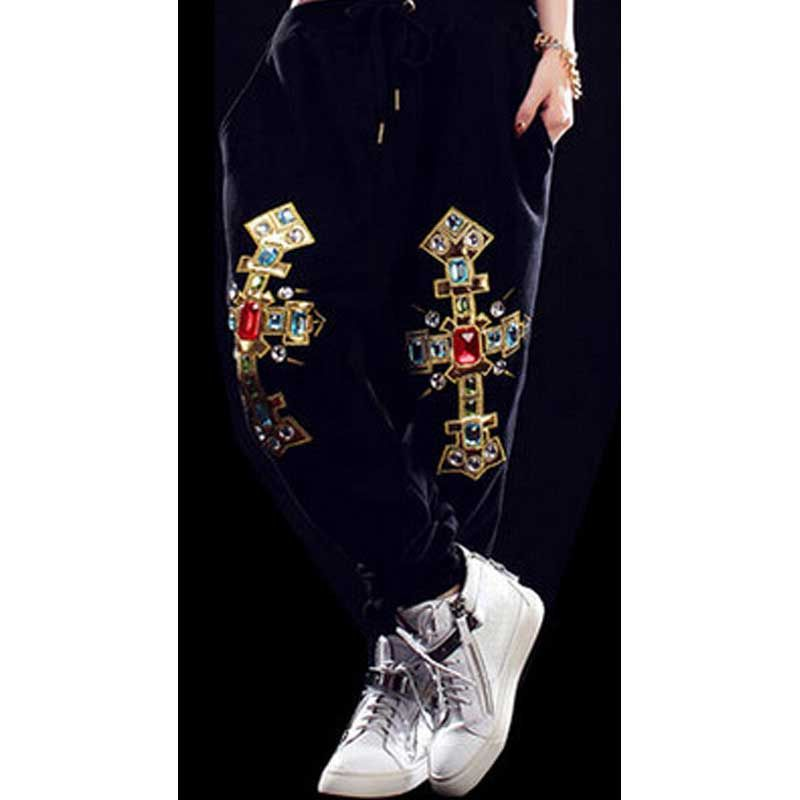 Harajuku Spring And Summer Hip Hop Loose Pants Jazz Trousers Women Sportswear Dance Pants Hip Hop Dance Wears Girl