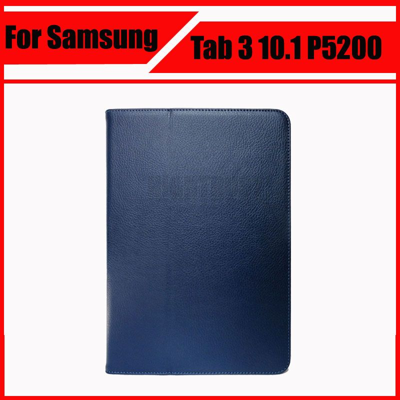 3 in 1 PU Leather Protective Skin Cover For Samsung Galaxy Tab 3 10.1 P5200 P5210 + Stylus Pen + Screen Film