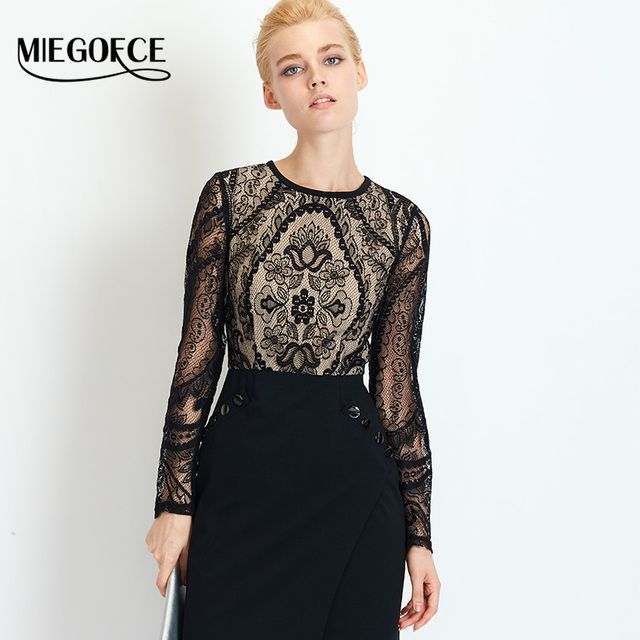 2016 MIEGOFCE New Autumn Collection Women Autumn Fitted Dress Suit Women Dresses in European Style with Knitted Round Collar