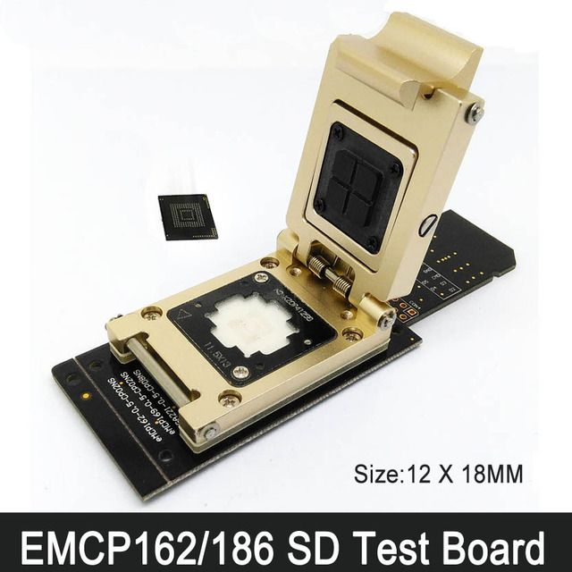 eMCP162/186 SD Test Seat FBGA186 FBGA162 Programmer adapter reader test socket test broad Chip Size 12x18 mm  Development Board
