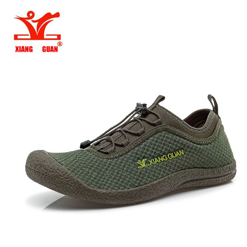 XIANGGUAN Upstream Shoes Hiking Men Beach Aqua Mesh Breathable Trainer Water Sport Boat Wading Outdoor Walking Sneaker For Man