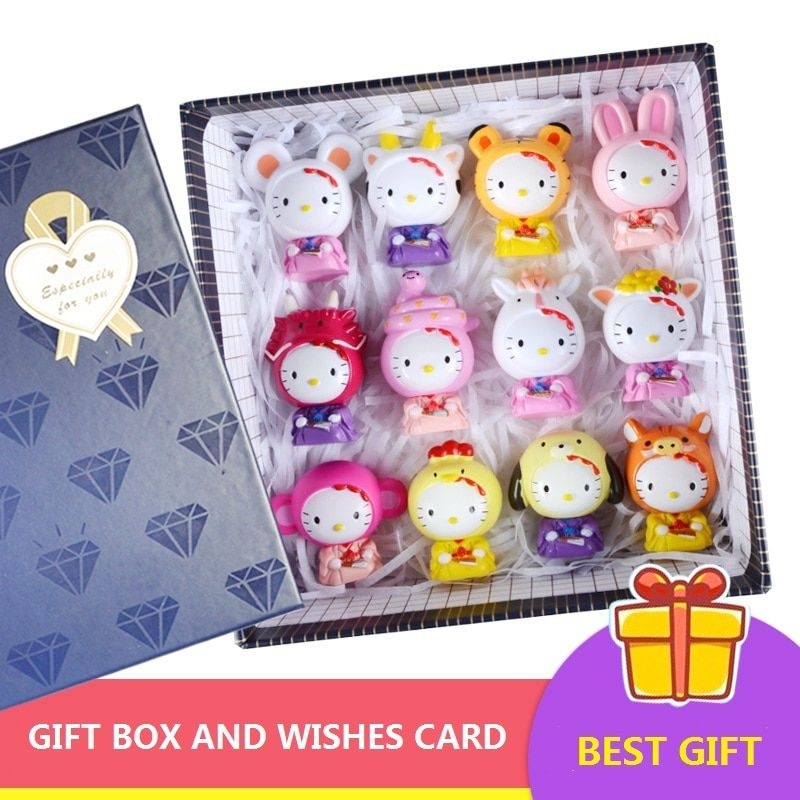 4 to 9cm With Gift Box Package Hellow Pawed Kitty Cat Dolls for My Little Birthday or Christmas Gift Poni Toys Set for Girl