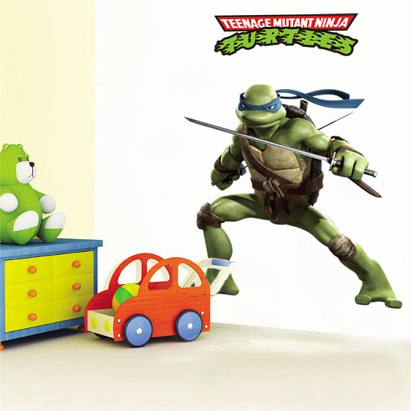 teenage mutant ninja turtles home decals 031. diy decorative stickers kids bedroom removable cartoon movie mural art posters 3.5
