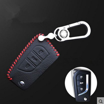 High quality! Special car key case for Toyota Highlander 5seats 2013-2009 wear-resisting key holde car key wallet,Free shipping