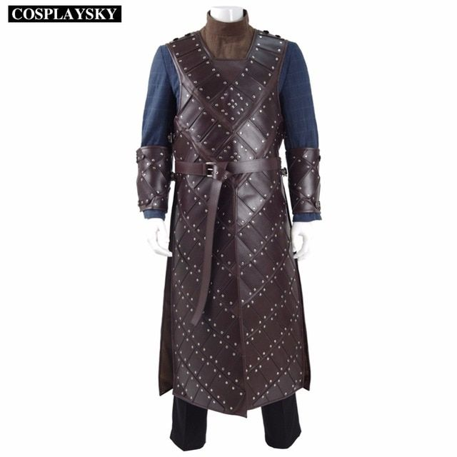 Game Of Thrones Season 6th Jon Snow Armor Cosplay Costumes Man's Battle Suit  Cosplay Costume Uniforms for Men Halloween Party