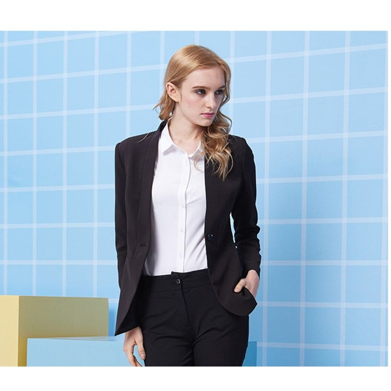 New Style Slim Fit Black Women Tuxedos Wedding Suits For Women Two Button Business Women Suits Custom made