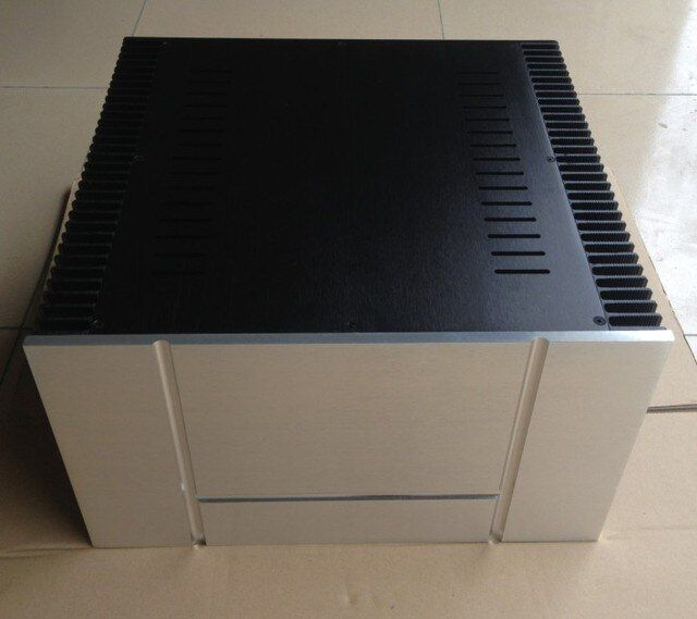 B-004  CNC All Aluminum Cabinet Chassis Case Box Cabinet for DIY Audio Power Amplifier   430mm*413mm*200mm 430*413*200mm