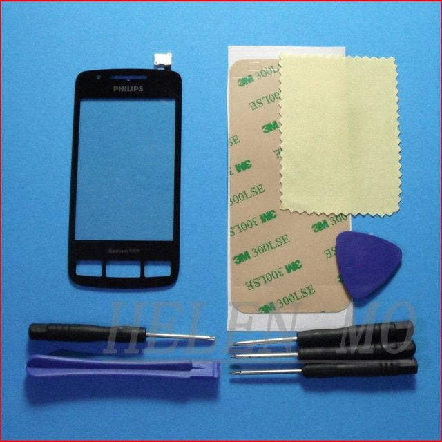 Touch Screen Digitizer glass panel Lens For Philips X622 Black Replacement & Tools