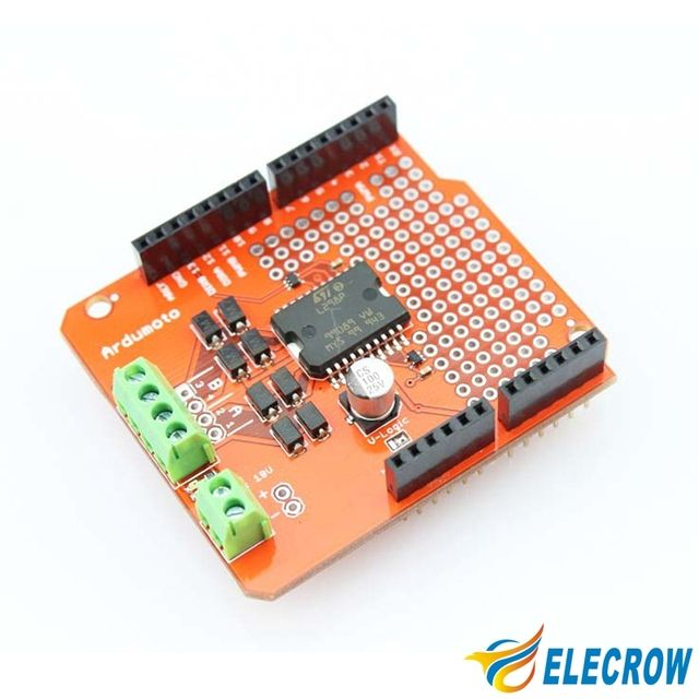 Elecrow High Quality Ardumoto Motor Shield for Arduino L298P 2A Electronic DIY Kit Free Shipping