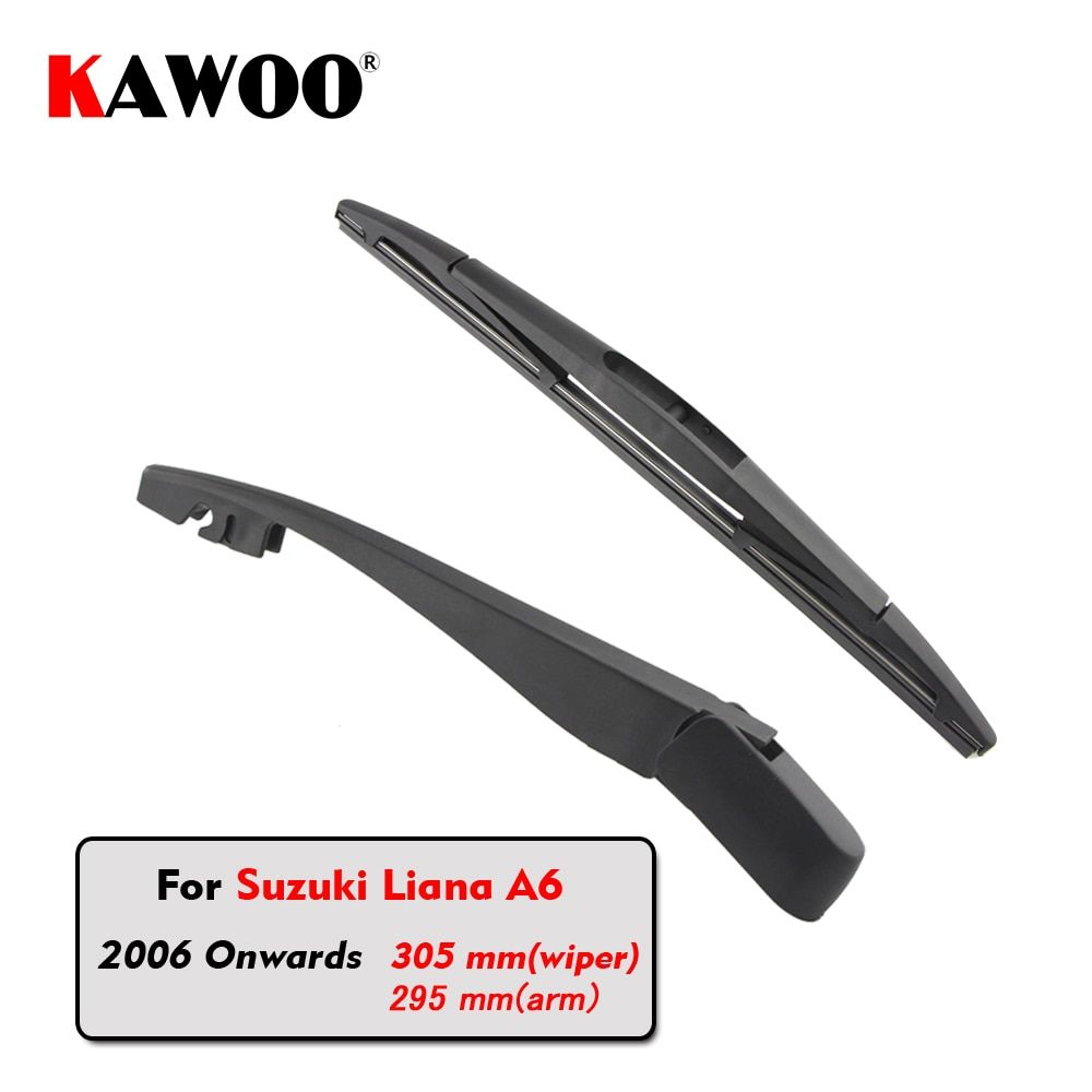 KAWOO Car Rear Wiper Blade Blades Back Window Wipers Arm For Suzuki Liana A6 Hatchback (2006 Onwards)305mm Auto Windscreen Blade