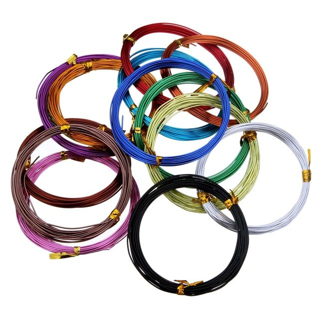 Free shipping 5m/roll 1mm Jewelry Findings Aluminum Wire Soft DIY Metal Crafts 15 Colors Painted Roll Wire Beading DIY Making