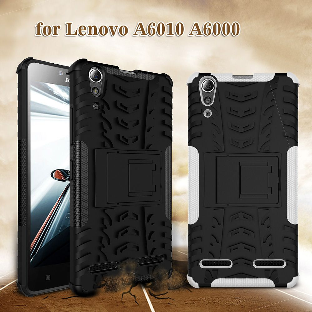 DULCII For Lenovo A 6010 A 6000 Back Cases PC TPU Phone Cover with Kickstand for Lenovo A6000  A6000 Plus A6010 Case Fundas