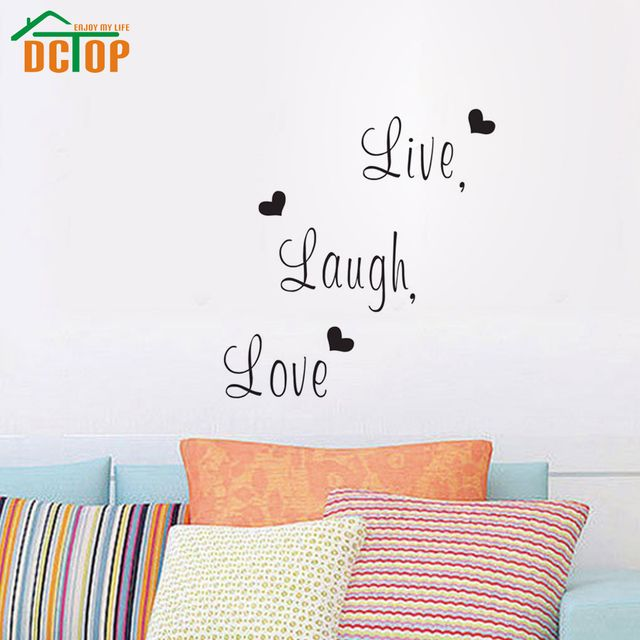 DCTOP Live Laugh Love Family Creative Wall Sticker Decals Decorative Wall Decor Removable Vinyl Wall Stickers Home Decoration