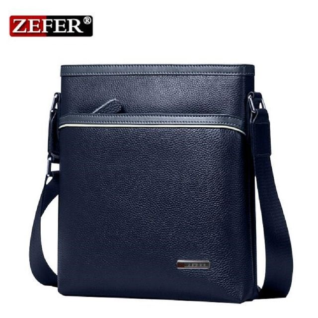 ZEFER Genuine Leather Men Bags Hot Sale Male Small Messenger Bag Man Fashion Business Shoulder Bag Men's Travel New Bags AZ120
