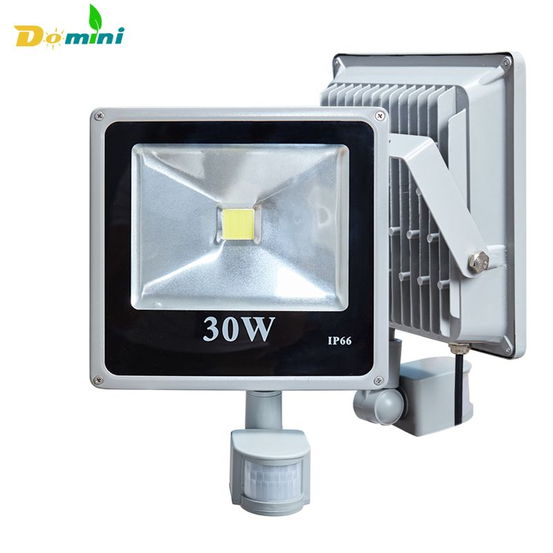 Outdoor lighting LED Flood Light Led Spotlight Led Reflector 10W 20W 30W 50W 100W Lamps Floodlight With PIR Motion Sensor AC220V