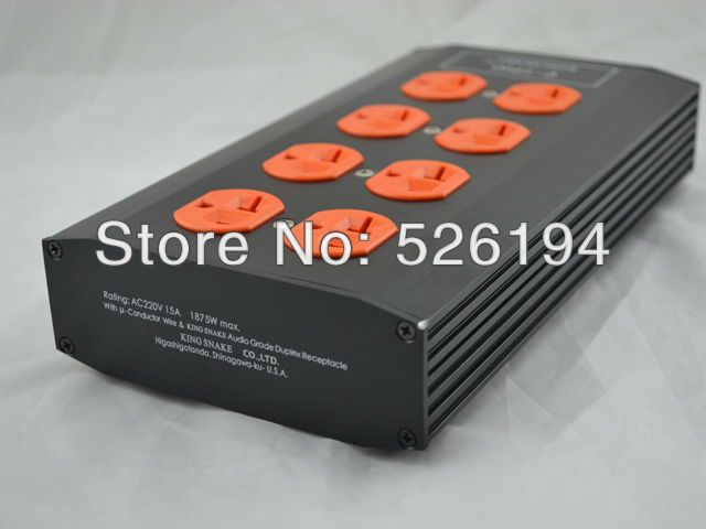 Free shipping KING SNAKE E-TP80 Audio Power Purifier Filter US version AC power socket