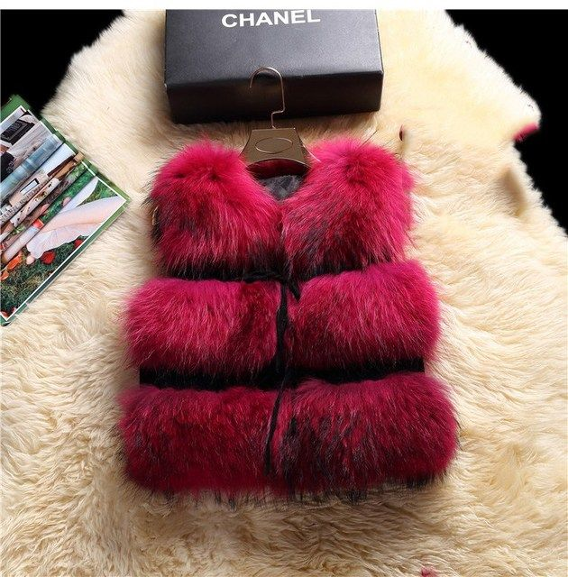 low price Hot Sale Retail/wholesale Fashion Genuine Raccoon Fur Vest women's real fur waistcoat Lady Natural Color Female femme