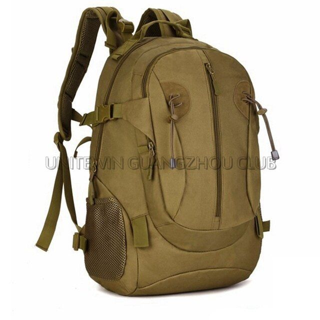 Tan Color Tactical Backpack 40L Outdoor Sports Backpack Hunting Military Camping Hiking Combat Bags