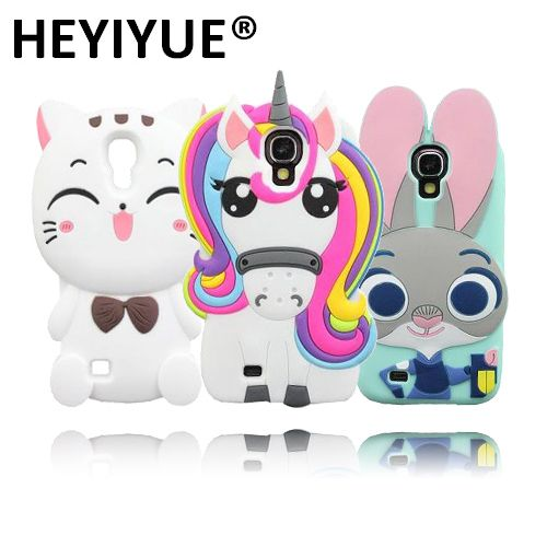 For Samsung Galaxy S4 Case Pony Uicorn Judy Bear Cat 3D Silicone Cases Cover For Samsung S4 i9500