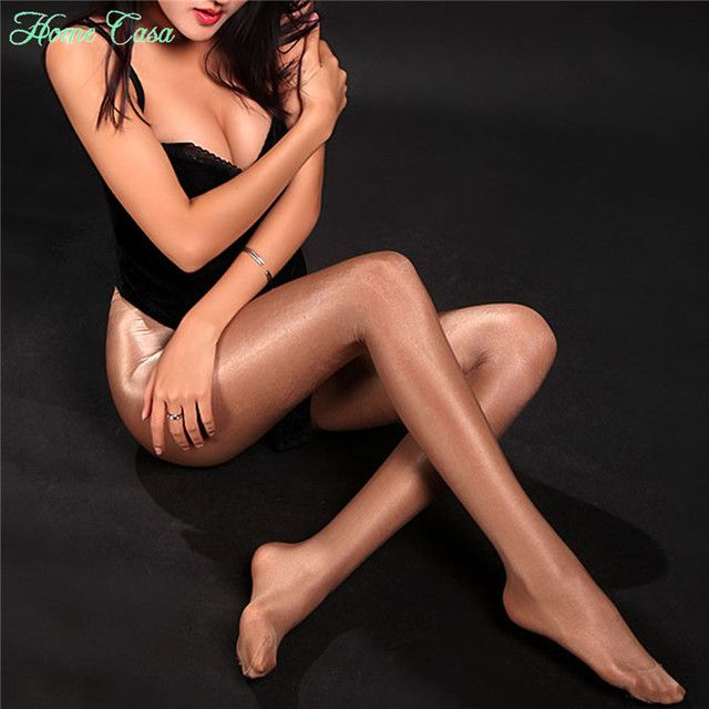 Women's Sexy Ultra Thin Tights Pantyhose Lady Glossy Shiny Thigh Highs Stockings 339