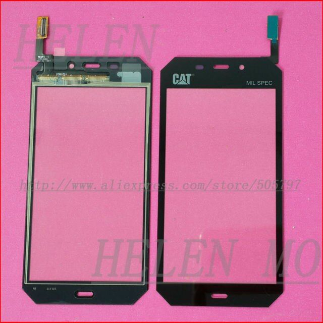 "Touch Screen Digitizer Glass Panel Lens For CAT S50 Black 4.7"" inch Replacement"
