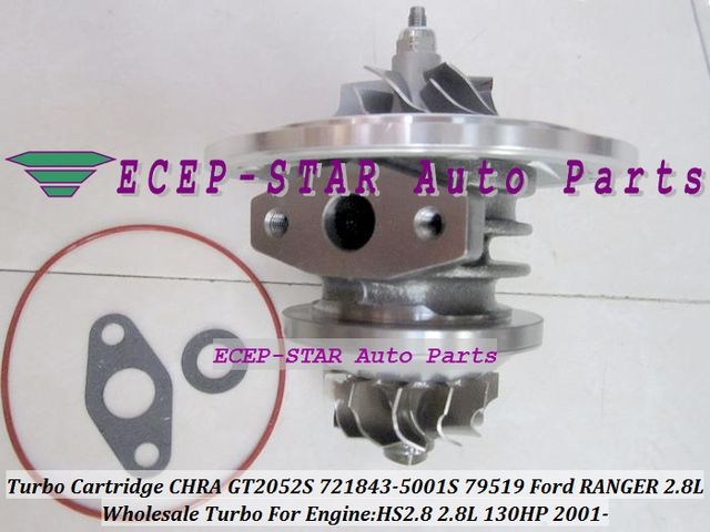 Turbocharger Turbo Cartridge CHRA Core GT2052S 721843-0001 721843-5001S 721843 79519 For Ford Ranger 01- Power Stroke HS2.8 2.8L