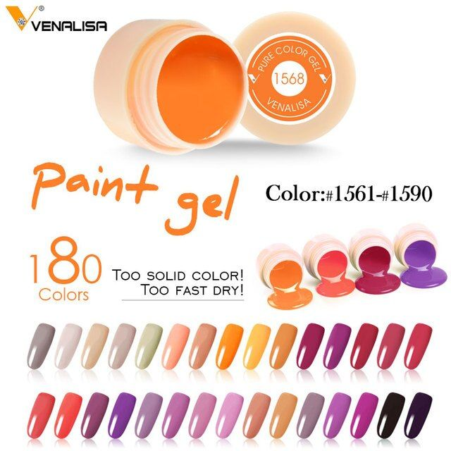 #50638 CANNI Nail Gel 5ml Color Gel Nail Polish Color Gel Venalisa Nail Paints Pure Color High Quality New Product Painting Gel