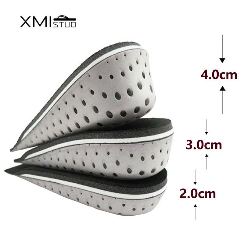 XMISTUO material Memory Foam Breathable mesh Invisible Height Increase Heel Lifts Elevator Shoe Insoles Inserts Cushion Pads