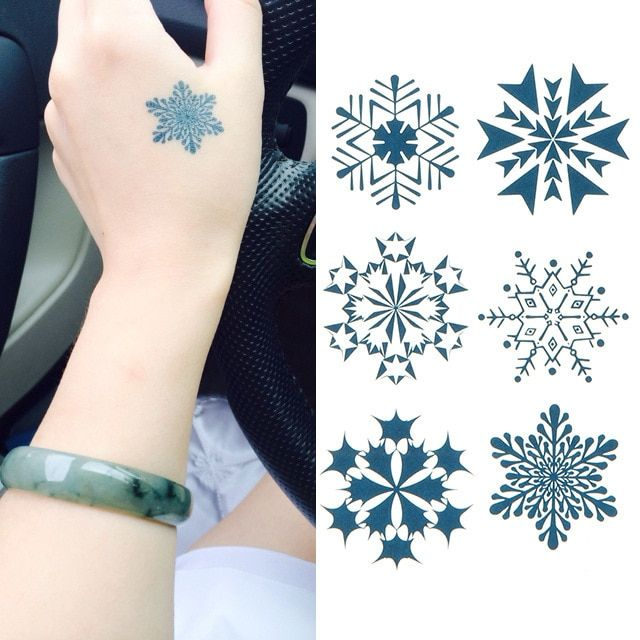 temporary tattoo sticker beautiful waterproof body tattoo sticker frozen fake tatoo temporary HC 15 snow design