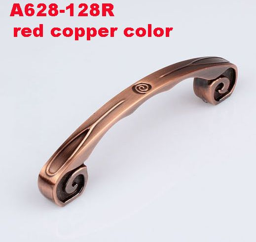 Length 147mm Hole CC 128mm Antique Brass/ Red Copper Zinc Alloy Kitchen cabinet Furniture vintage Handle drawer handle pulls