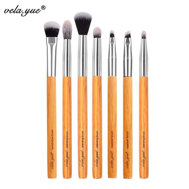 vela.yue Premium Makeup Brush Set 7pcs Eyes Shadow Smudge Blending Contour Eyeliner Eyebrow Makeup Tools Kit