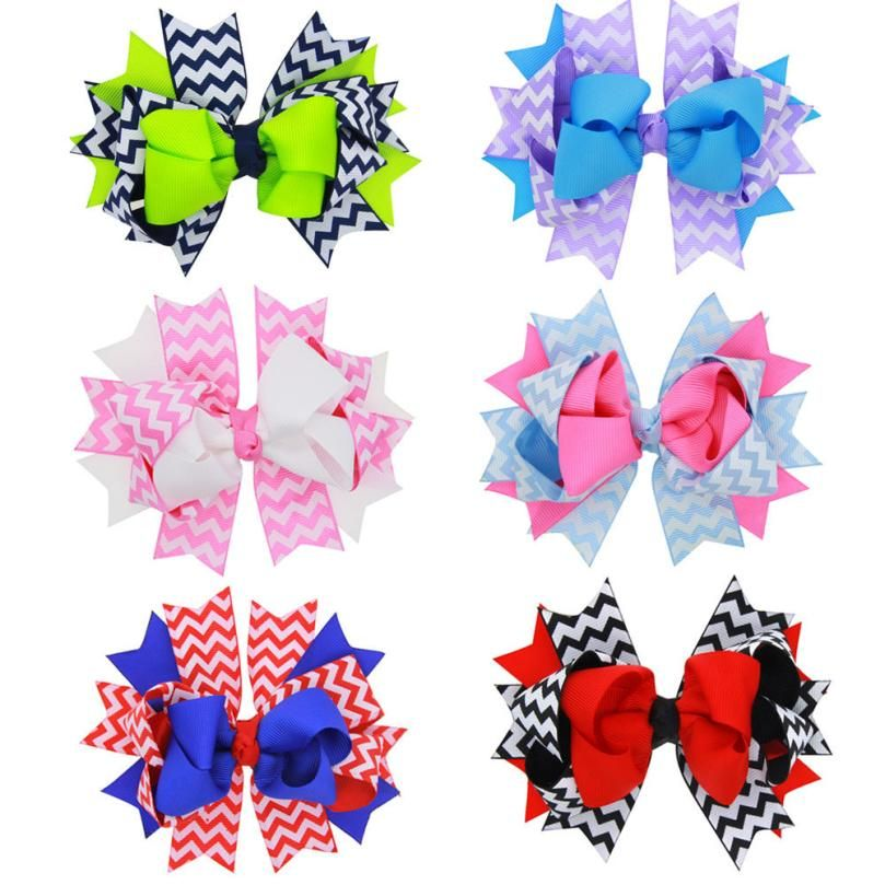 Barrettes Cute Baby Girl Big Bow Clips Boutique Hair Pin Luxury Girls Hairpin Hair Accessories
