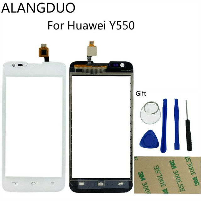 ALANGDUO Original For Huawei Y550 Touchscreen Digitizer Assembly Parts Replacement Front Touch Panel Sensor Glass Window