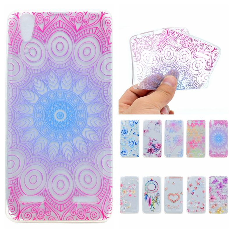 Colorful Phone Case For Lenovo Lemon K3 K30 A6000 A6010 Cases Transparent Silicone Mandala Flower Slim Soft Back Cover Coque