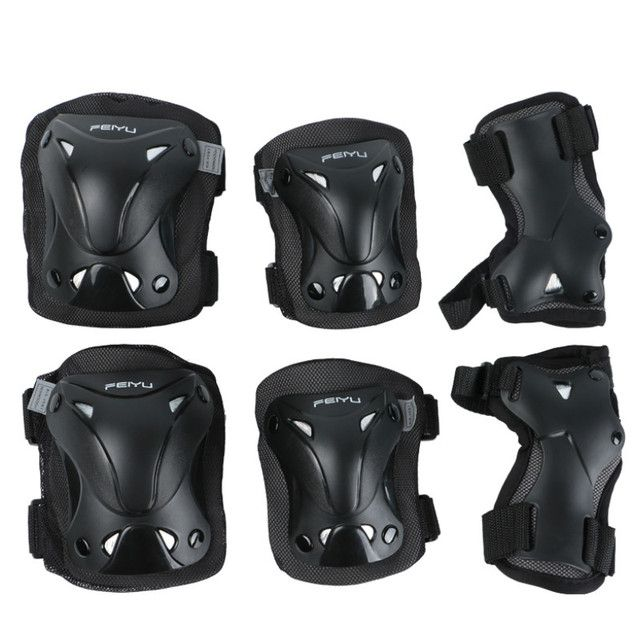 6 In 1 Set Roller Skates Skateboarding Skiing Wrist Knee Elbow Protector Set Adult Kids KneePads Protection Sports Safety Guard