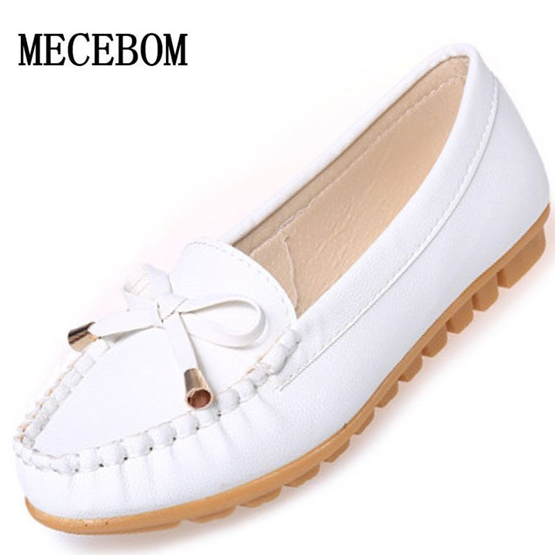 New 2016 Women Shoes Loafers Slip-on Ballet women Flats Comfort Bow shoes woman moccasins D71