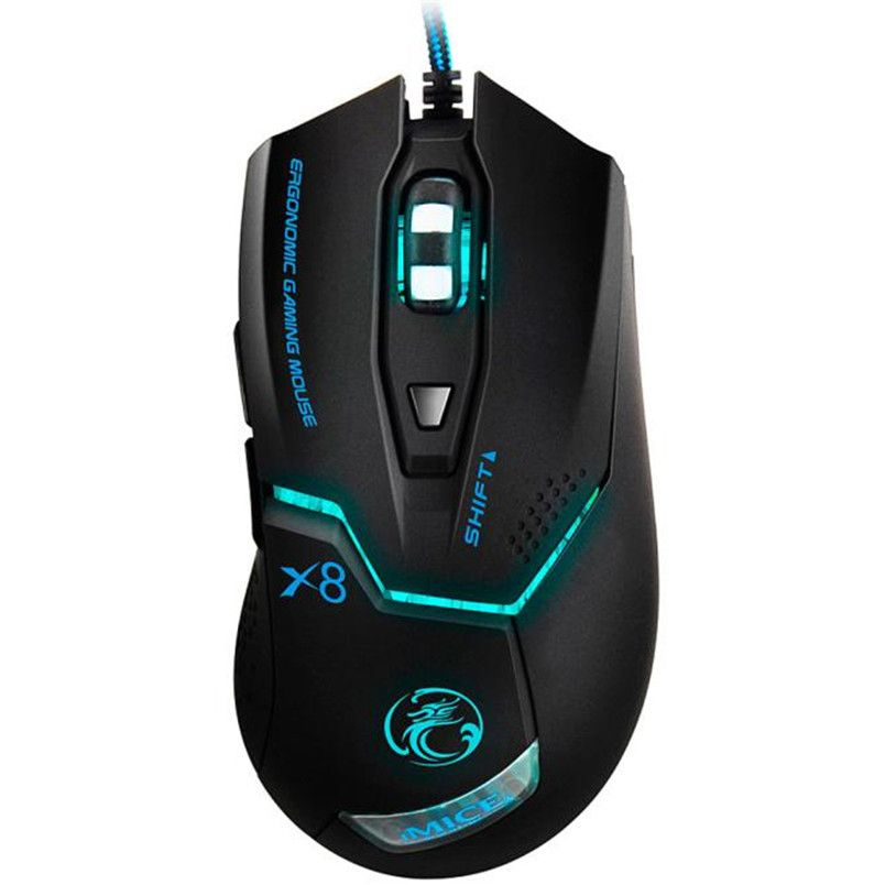 Reliable Wired Gaming Mouse 3000 DPI LED Optical 6D USB Wired Game Mice For Game Player Wired Gaming Mouse For PC Laptop