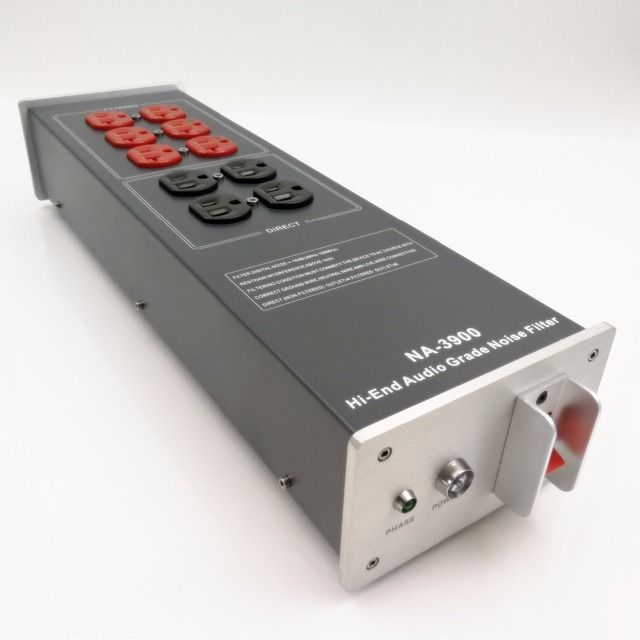 NA-3900 High-End Audio Noise Filter, AC Power Conditioner, Power Filter, Power Purifier with US Outlets