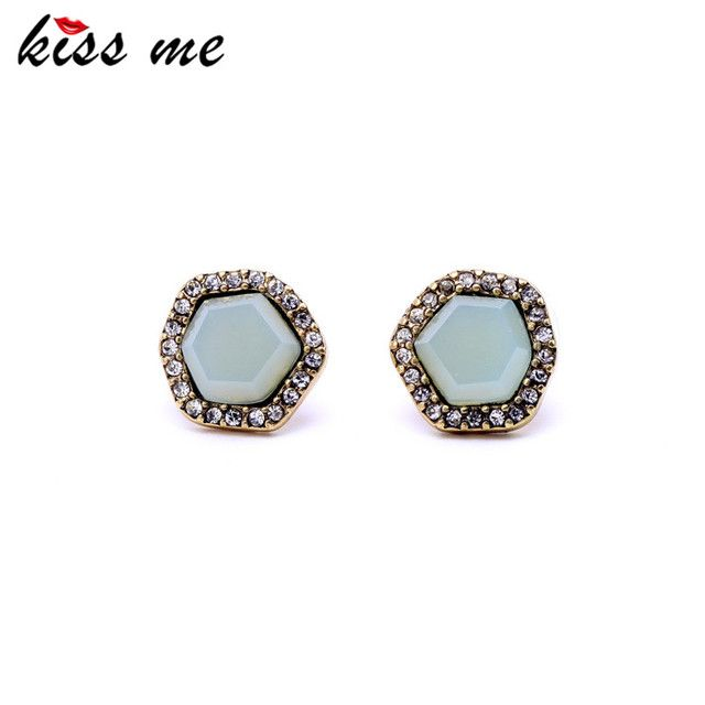 Women Crystal Irregular Pentagram Metal Spike Stud Earrings Costume Jewelry  Factory Wholesale