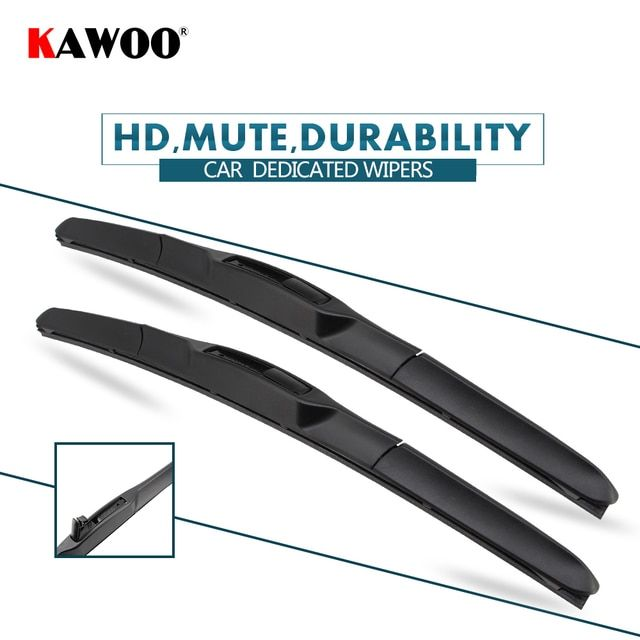 "KAWOO 2pcs Car Wiper Blade 24""+20"" For Kia Forte (2010-2014) Auto Soft Rubber Windcreen Wipers Blades Car Accessories Styling"