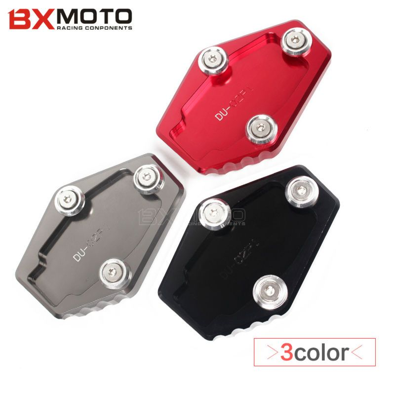 Motorcycle accessories Red Side Stand Enlarge Plate Extension For Ducati Multistrada 1200 1200S MONSTER 795 796 821 1200 1200S