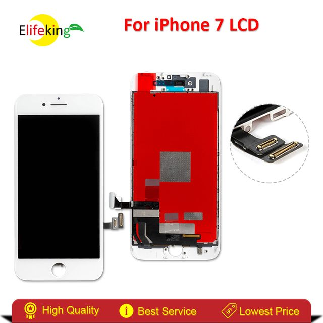 Elifeking 50PCS/LOT For Apple iPhone 7 Digitizer Full Assembly Replacement High Quailty No Dead Pixel With Black & White
