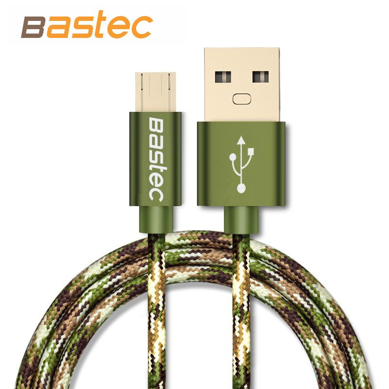 Bastec Camouflage Micro USB Cable Fast Charging Mobile Phone Andriod Cable 1m 2m 3m USB Data Charger Cable For Samsung HTC LG