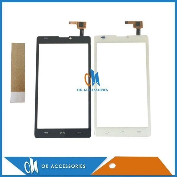 1PC/Lot For ZTE Blade L2 Touch Screen Digitizer Replacement White Black Color High Quality With Adhesive Tape