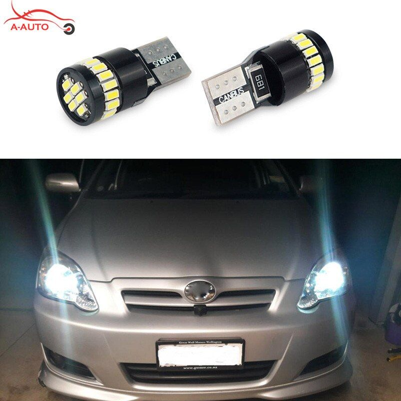 2x T10 W5W Canbus Car Interior Parking Lights Clearance LED For Ford focus 1 2 3 fiesta mondeo mk3 ecosport kuga mustang transit