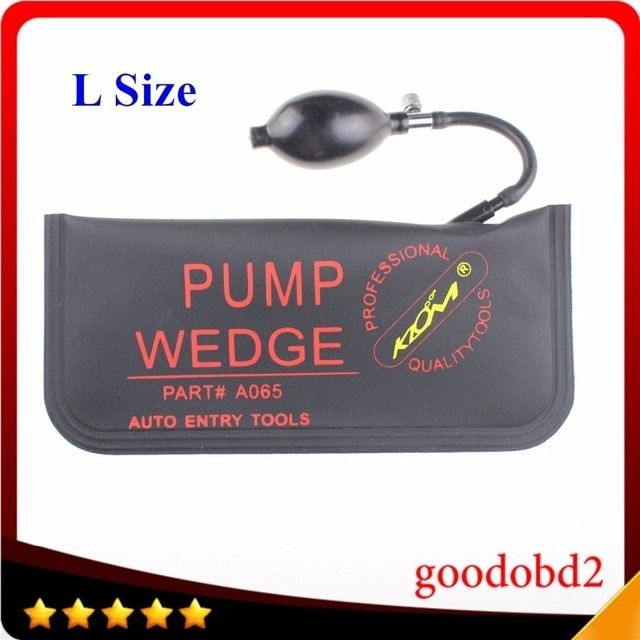 Inflatable Air Wedge Diagnostic Tool Airbag Wedge Auto Air Pump Wedge Locksmith Tool Lock Pick Set Open Car Door Lock 5 pcs/bag