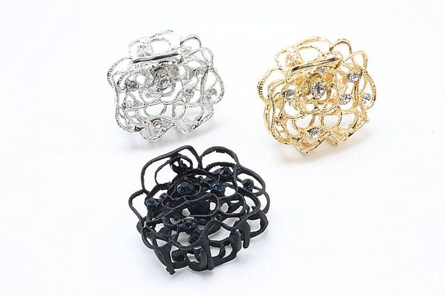 1pc Open Rose Hair Claw Fashion Hair Clamp Beauty Hair Clip Grip Hair Flower Jewelry Accessories F209