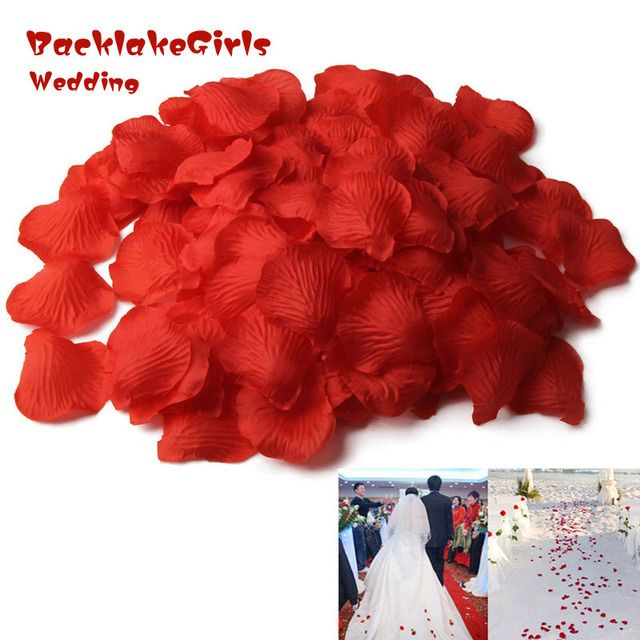 BacklakeGirls Rose Petals 5000pcs/set Wedding Simulation Wedding Decoration Valentine's Party Welding Party Decoration Flower